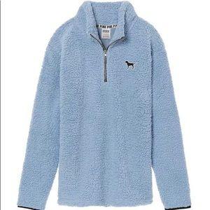 Victoria's Secret PINK fuzzy half zip pullover